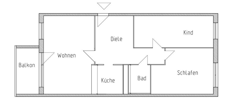 Grundriss wohnung 3 zimmer  Wohnungsangebote :: Wohnen in Eisenach :: WG Sonnenschein eG